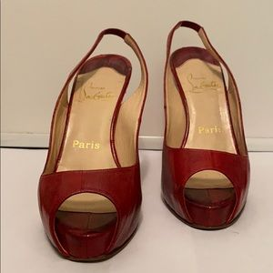 Authentic Louboutin Private Number Pumps